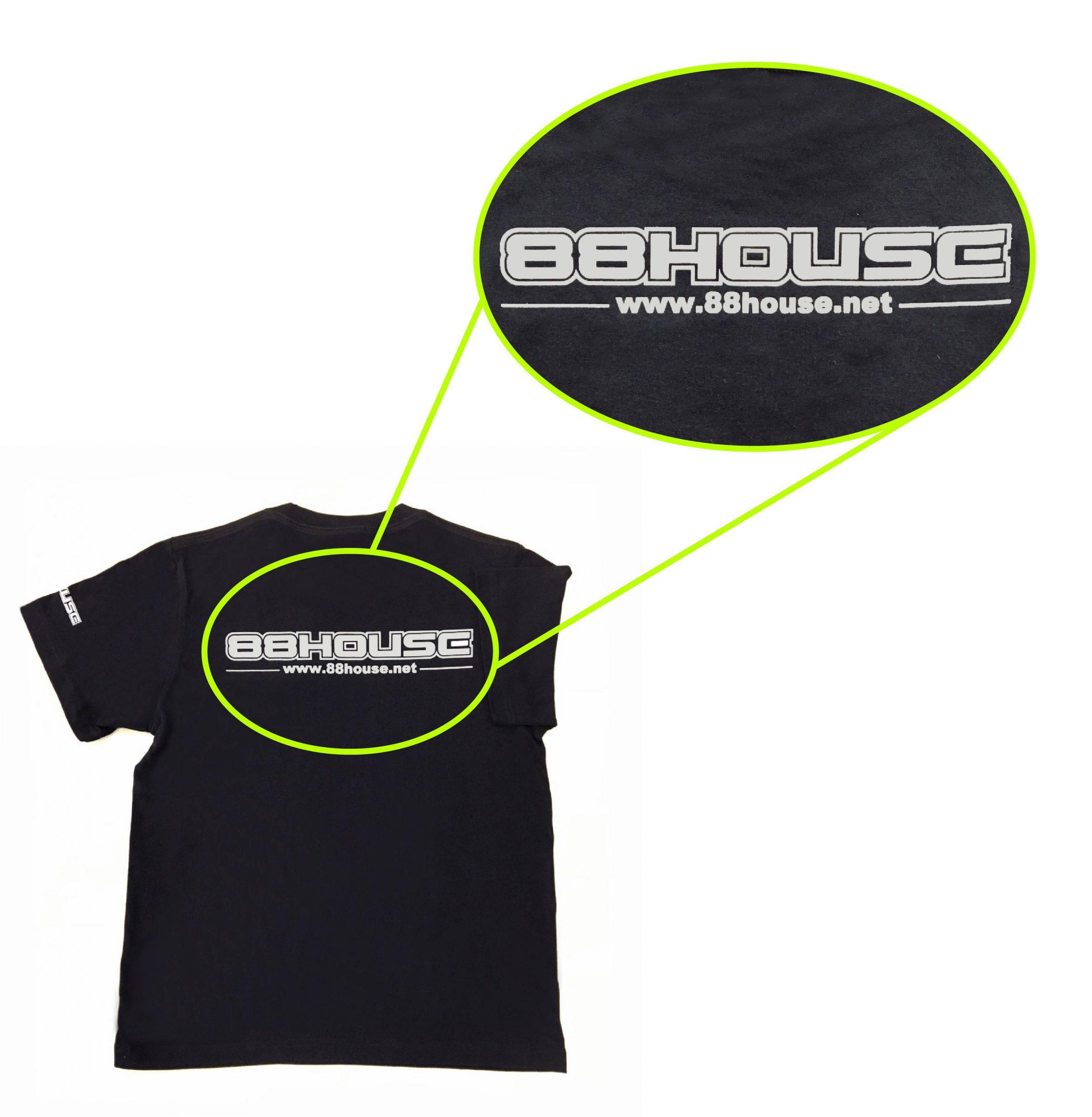 ロゴ  Tシャツ 黒×グレー